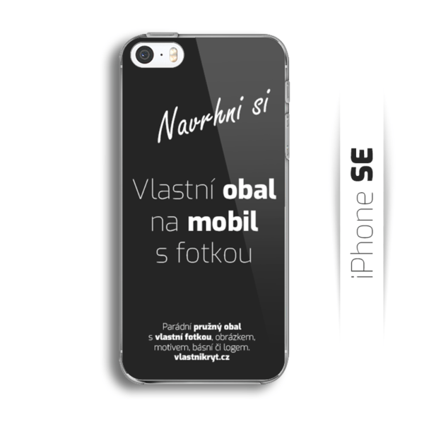Obal s vlastní fotkou na mobil iPhone SE