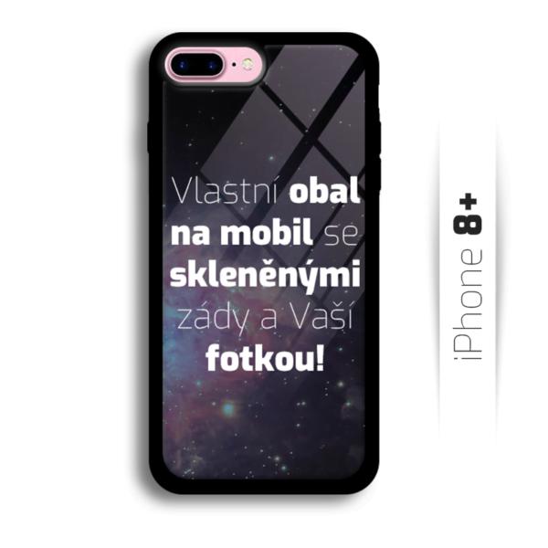 Vlastní obal se skleněnými zády na iPhone 8 Plus