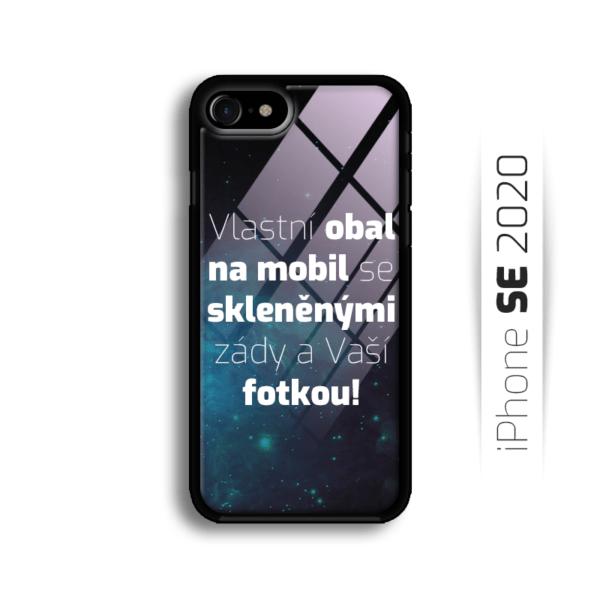 Vlastní obal se skleněnými zády na iPhone SE 2020
