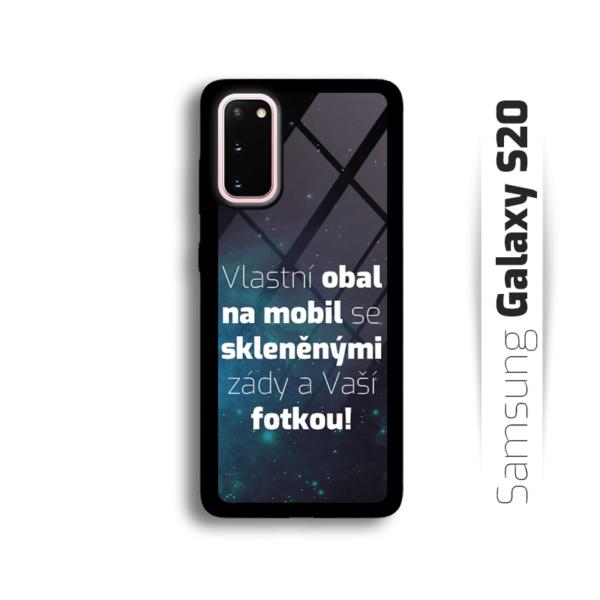 Vlastní obal se skleněnými zády na Samsung Galaxy S20