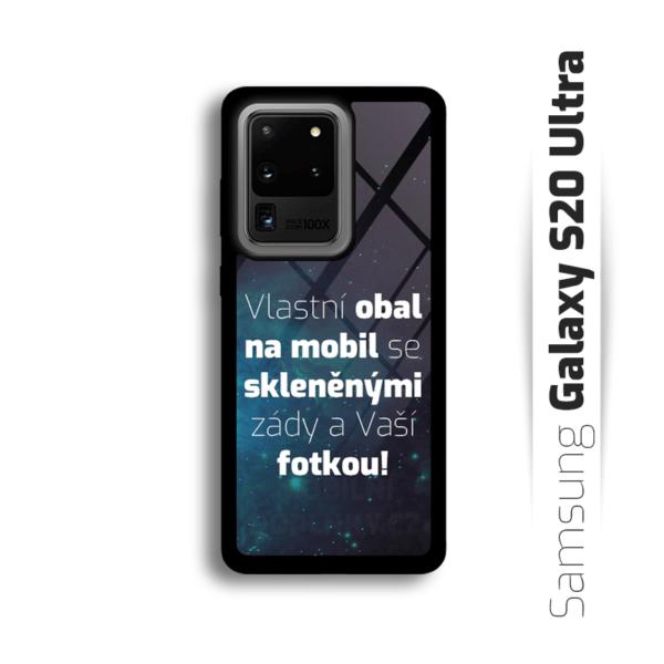 Vlastní obal se skleněnými zády na Samsung Galaxy S20 Ultra