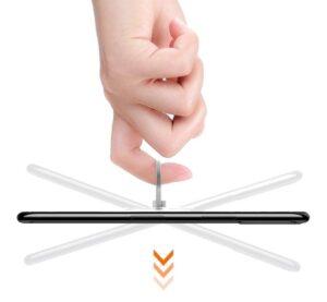 Průhledný držák mobilu na prst