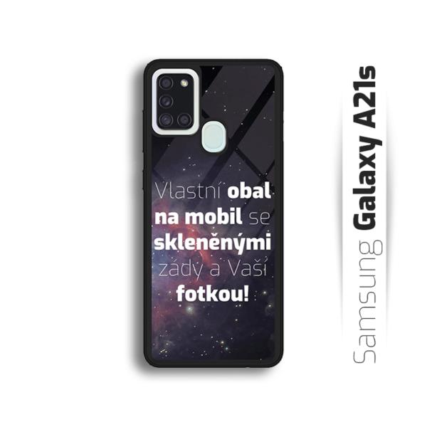 Vlastní obal se skleněnými zády na Samsung Galaxy A21s