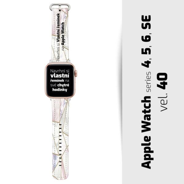 Řemínek s vlastním potiskem 40mm pro Apple Watch 4, 5, 6, SE